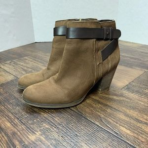Franco Sarto brown heeled ankle boots